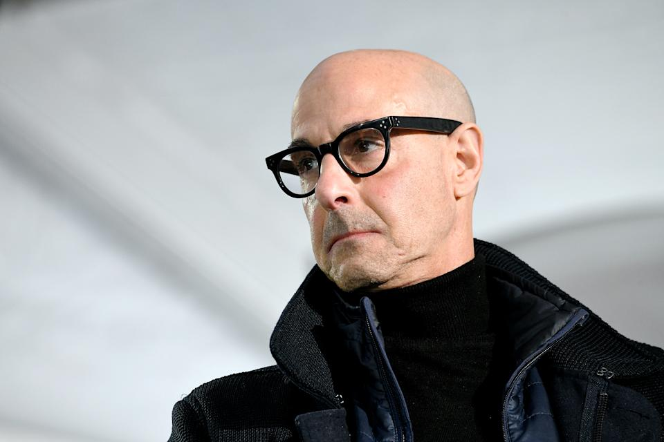PARK CITY, UTAH - JANUARY 24: Stanley Tucci speaks onstage at Acura Festival Village at Sundance Film Festival on January 24, 2020 in Park City, Utah. (Photo by Michael Kovac/Getty Images for Acura)