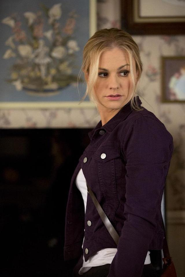 "Sookie Stackhouse (Anna Paquin) remarks in the <a href=""https://www.youtube.com/watch?v=tGgt_jllHcA"" rel=""nofollow noopener"" target=""_blank"" data-ylk=""slk:trailer"" class=""link rapid-noclick-resp"">trailer</a>, ""I can barely remember the last time I wasn't in danger. I want my life back."" Something tells us that Season 6 won't be any safer for this protagonist with powerful hands, with her ex-beau Billilith on the loose and an ancient scroll promising her to Warlow, a mysterious vampire who killed Ma and Pa Stackhouse and whose thoughts Sookie mysteriously can read."