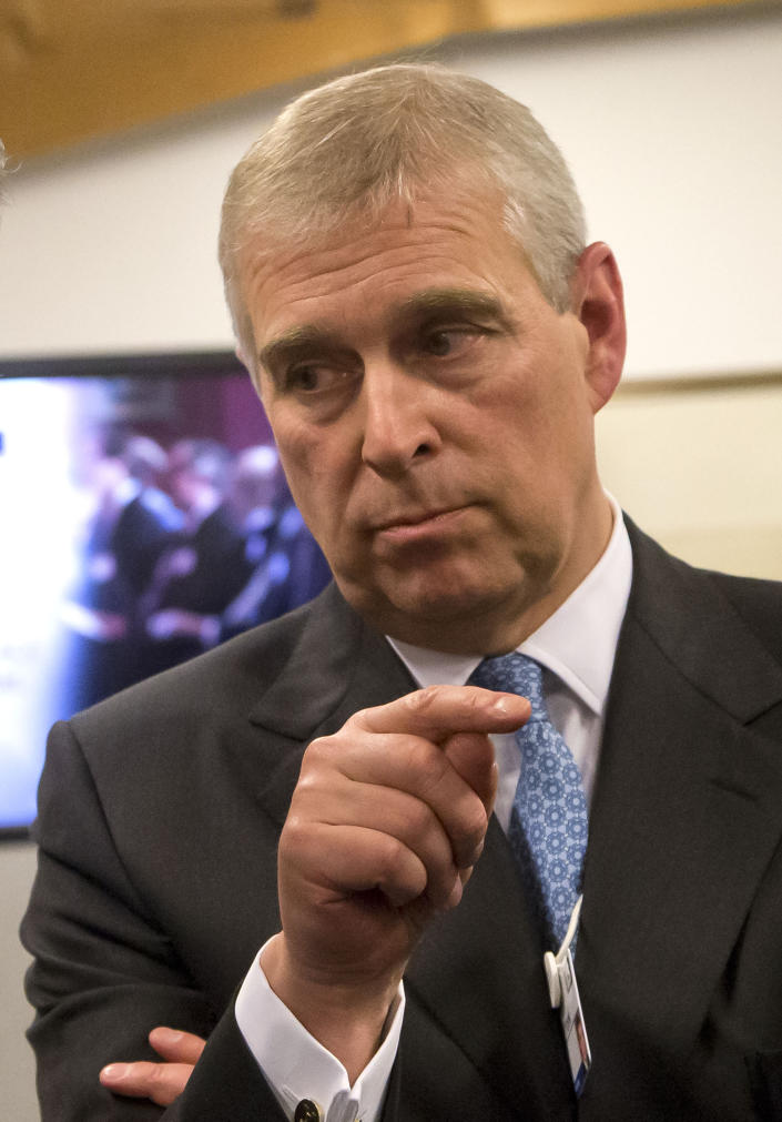File photo dated 22/01/15 of the Duke of York, who is standing back from all of the organisations of which he is a patron after the backlash which followed an interview he gave to BBC's Newsnight programme.