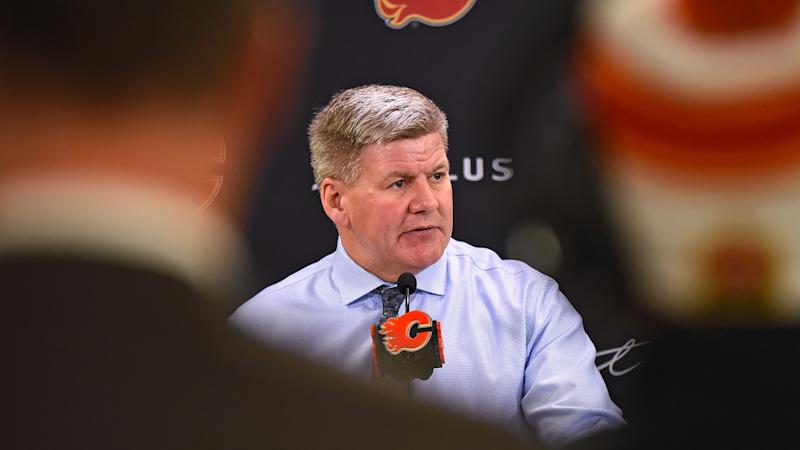 The NHL and Calgary Flames head coach Bill Peters will likely have a face-to-face meeting over his previous racist comments. (Photo by Brett Holmes/Icon Sportswire)