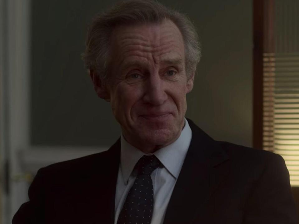 <p>Nicholas Farrell as Michael Shea in 'The Crown'</p>Netflix