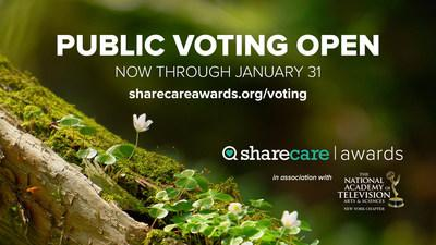The public voting period for the 2020 Sharing Care Award is open now through Jan. 31, 2020.