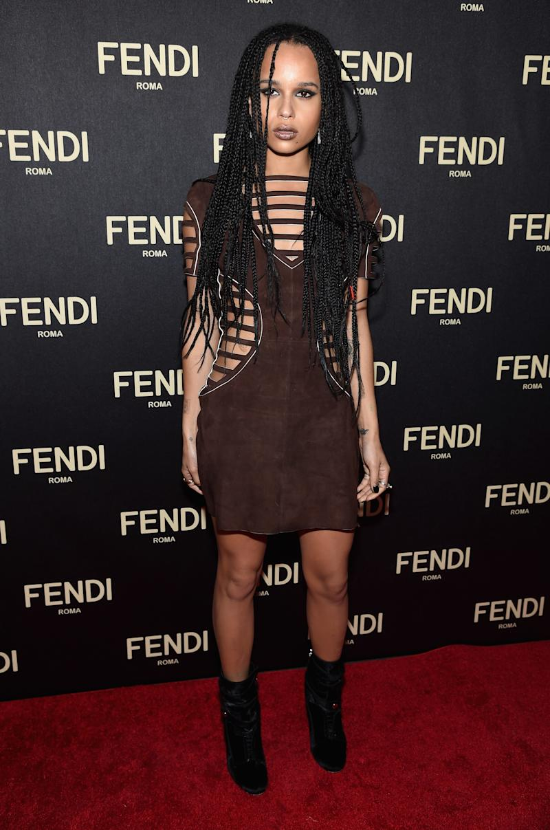 Kravitz attends FENDI celebrates the opening of the New York flagship store on February 13, 2015.