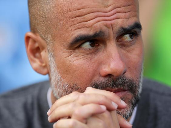 Guardiola has been more studious than usual as City push for the quadruple (Getty)