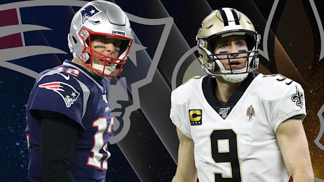"<a class=""link rapid-noclick-resp"" href=""/nfl/players/5228/"" data-ylk=""slk:Tom Brady"">Tom Brady</a> and Drew Brees are out of the NFL playoffs early. (Yahoo Sports illustration by Michael Aguilar)"