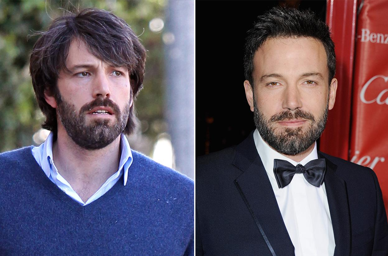 "Ben Affleck's ""Argo"" beard perhaps gave him directorial credibility. But the nominee looks better trimmed up and ready for awards season."