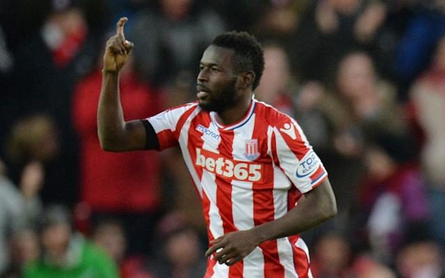 Mame Biram Diouf has been deployed all over the field for Stoke this season but started the game upfront against Huddersfield