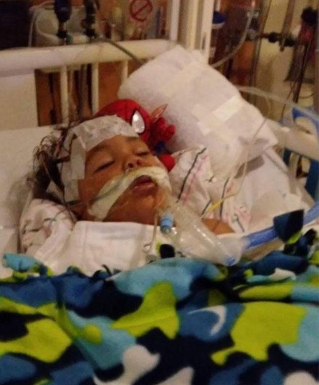 The toddler's devastated family are now planning to donate his organs. Photo: GoFundMe