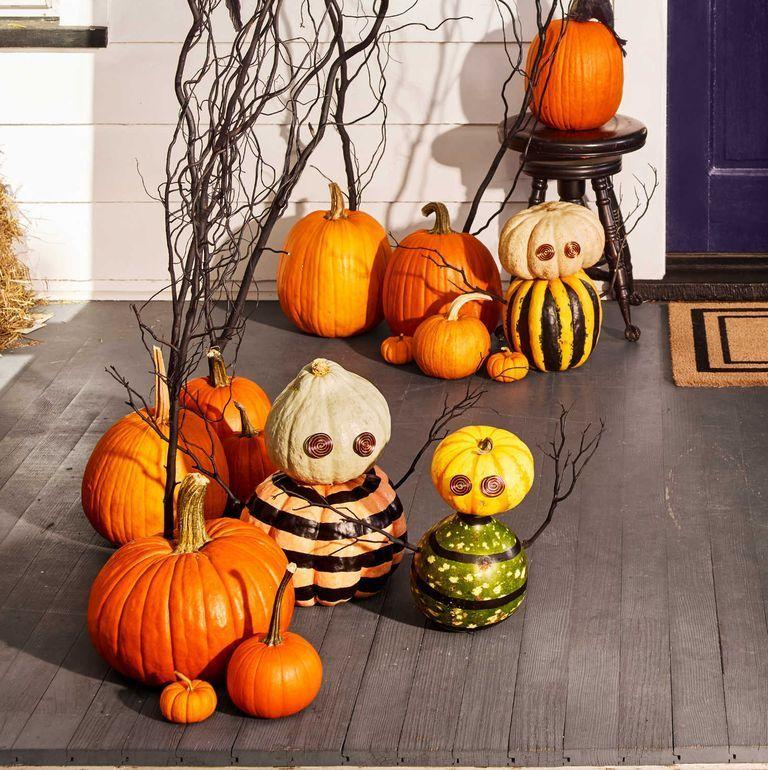 <p>All you need to make these stunning and spooky pumpkins is aluminum wire, your favorite paint colors, a few pumpkins, and the twigs falling around your house. </p>