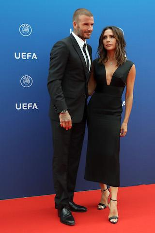 <p>David and Victoria Beckham made a rare red carpet appearance on 30 August at the Grimaldi Forum in Monaco and made it to the best dressed list in the process. <em>[Photo: Getty]</em> </p>