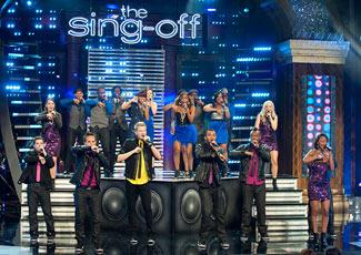 "The final four ""Sing-Off"" groups tackled mastermixes last night (Lewis Jacobs/NBC)"