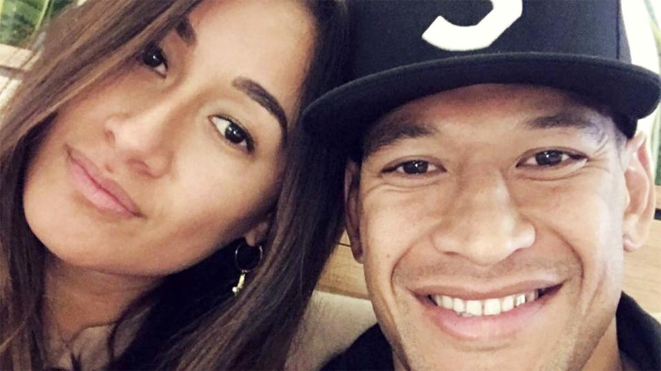 Israel Folau and wife Maria, pictured here on Instagram.
