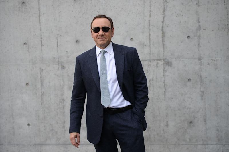 Kevin Spacey in June 2016 at a fashion show in Milan.