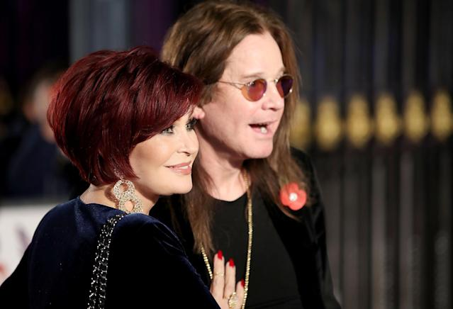 Ozzy and Sharon Osbourne attend the Pride Of Britain Awards at Grosvenor House, on October 30, 2017 in London, England. (Photo by Mike Marsland/Mike Marsland/WireImage)