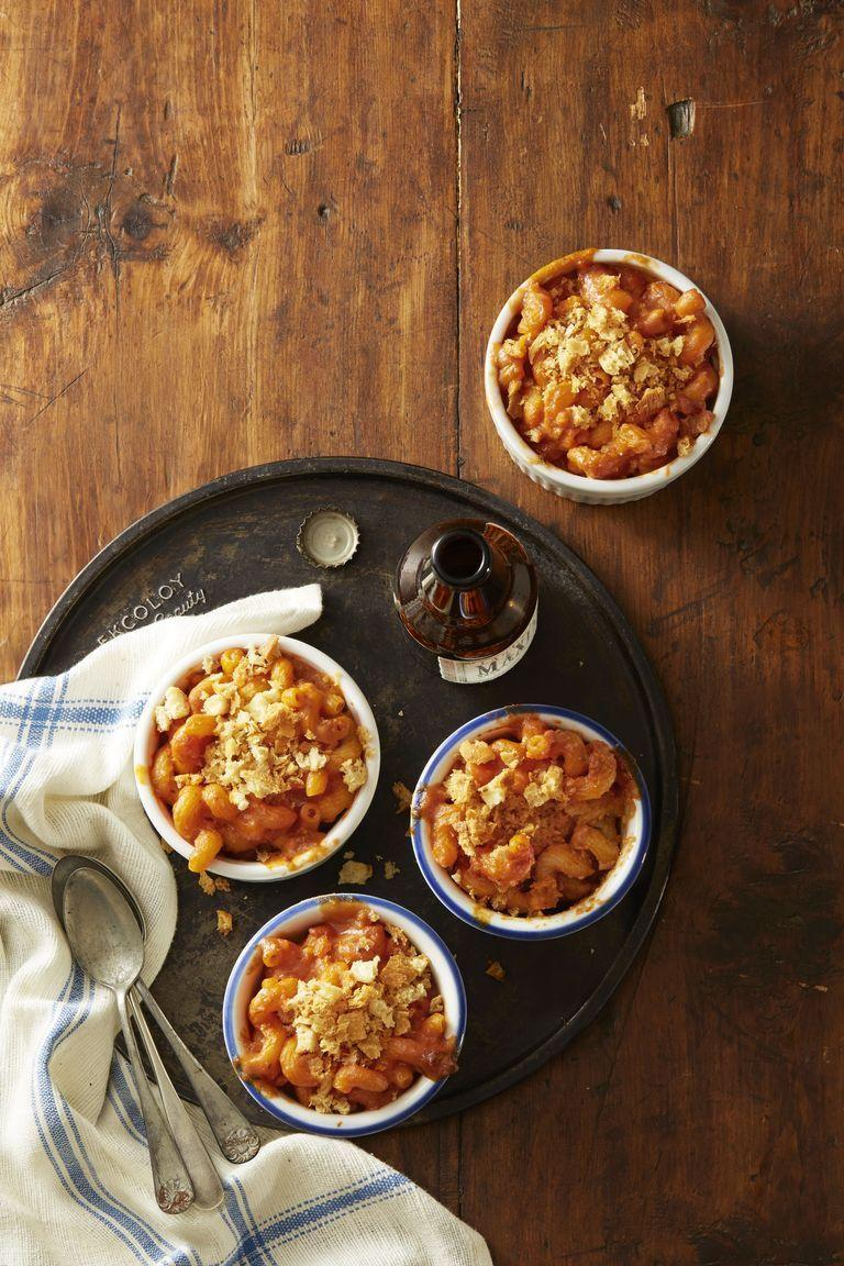 """<p>Two classic flavors meet in the epitome of comfort food. Consider this health-<em>ish.</em></p><p><em><a href=""""https://www.goodhousekeeping.com/food-recipes/a42220/tomato-soup-mac-n-cheese-recipe/"""" rel=""""nofollow noopener"""" target=""""_blank"""" data-ylk=""""slk:Get the recipe for Tomato Soup Mac 'n' Cheese »"""" class=""""link rapid-noclick-resp"""">Get the recipe for Tomato Soup Mac 'n' Cheese »</a></em></p>"""