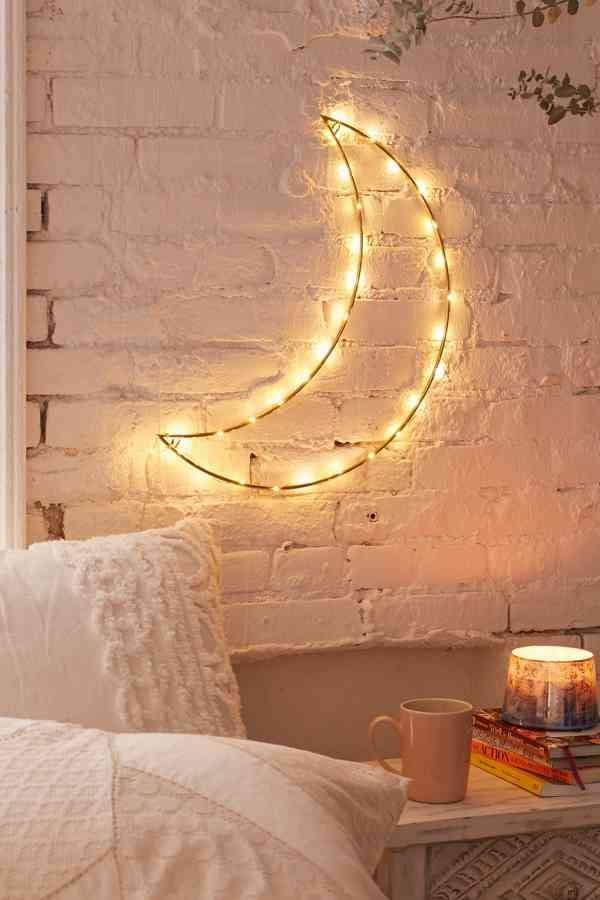 <p>This <span>Geo Moon Light Sculpture</span> ($34) would look so cool hanging above their bed.</p>