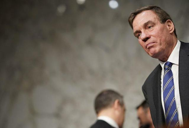 Sen. Mark Warner, D-Va., at a hearing in June 2017 where the Senate Select Intelligence Committee listened to testimony on Russian intervention in U.S. and European elections. (Photo: Win McNamee/Getty Images)