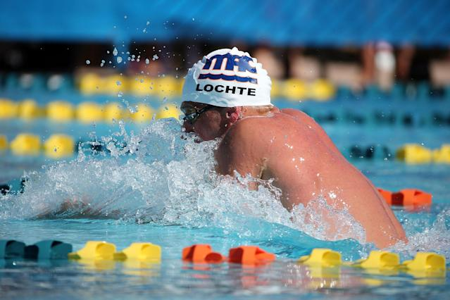 MESA, AZ - APRIL 16: Ryan Lochte competes in the prelims of the men's 200 meter individual medley at the Skyline Aquatic Center on April 16, 2016 in Mesa, Arizona. (Photo by Chris Coduto/Getty Images)