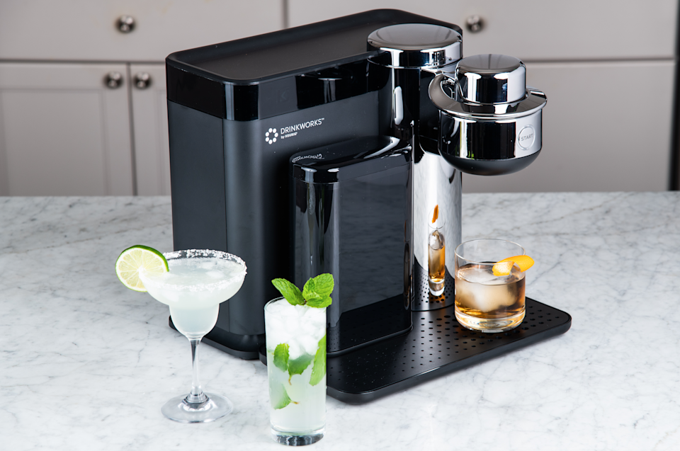 """<h2>Drinkworks Home Bar Drinkmaker</h2>A literal mixologist on your countertop. Just pop in a <a href=""""https://www.drinkworks.com/shop#drinks"""" rel=""""nofollow noopener"""" target=""""_blank"""" data-ylk=""""slk:pod for whatever kind of drink"""" class=""""link rapid-noclick-resp"""">pod for whatever kind of drink</a> you're in the mood for, and voilà — your cocktail is ready to be sipped. And it's $200 off until December 2. <br> <br> <strong>Drinkworks</strong> Drinkworks Home Bar Drinkmaker, $, available at <a href=""""https://www.bestbuy.com/site/keurig-drinkworks-home-bar-drinkmaker-silver/6348476.p?skuId=6348476"""" rel=""""nofollow noopener"""" target=""""_blank"""" data-ylk=""""slk:Best Buy"""" class=""""link rapid-noclick-resp"""">Best Buy</a>"""