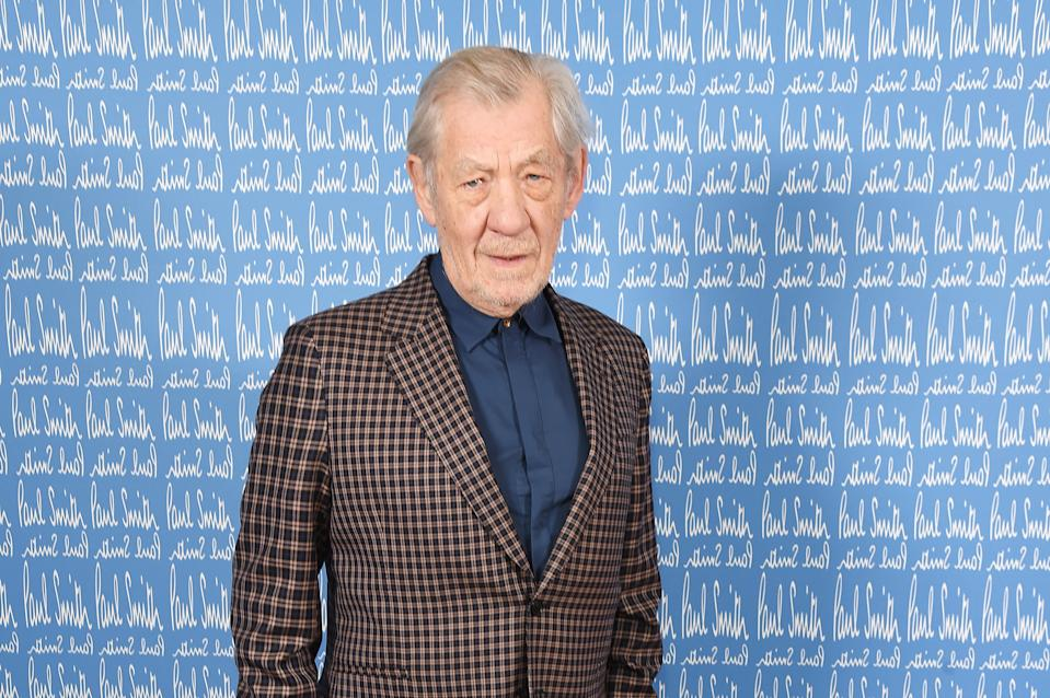 Sir Ian McKellen attends the Paul Smith AW20 50th Anniversary show as part of Paris Fashion Week on January 19, 2020. (Photo by David M. Benett/Getty Images for Paul Smith)