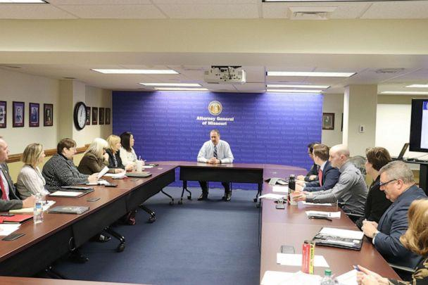 PHOTO: Missouri Attorney General Eric Schmitt conducts a 'SAFE Kits' Working Group Meeting. (Missouri Attorney General's Office)