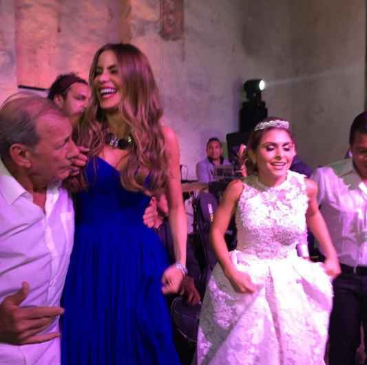 In case there was any doubt that Vergara knows how to party, this picture should put that to rest. The Hot Pursuit alum showed off her dancing skills as she partied with the bride, who also looked like she had some serious moves. (Photo: Instagram)