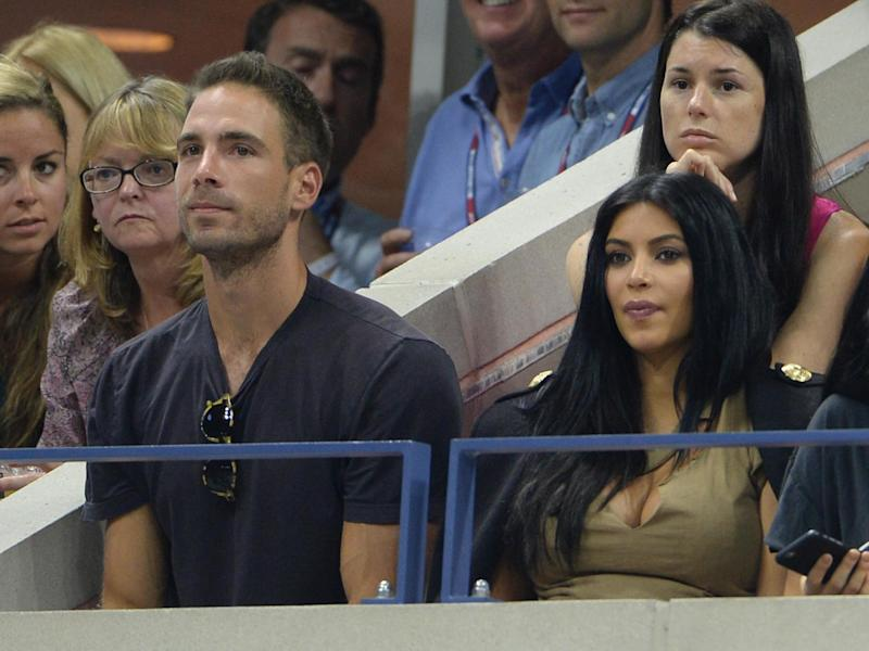 Simon Huck and Kim Kardashian West at the US Open, September 2015: Rex Features