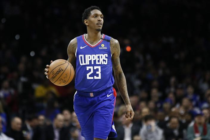 Los Angeles Clippers' Lou Williams plays during an NBA basketball game against the Philadelphia 76ers, Tuesday, Feb. 11, 2020, in Philadelphia. (AP Photo/Matt Slocum)