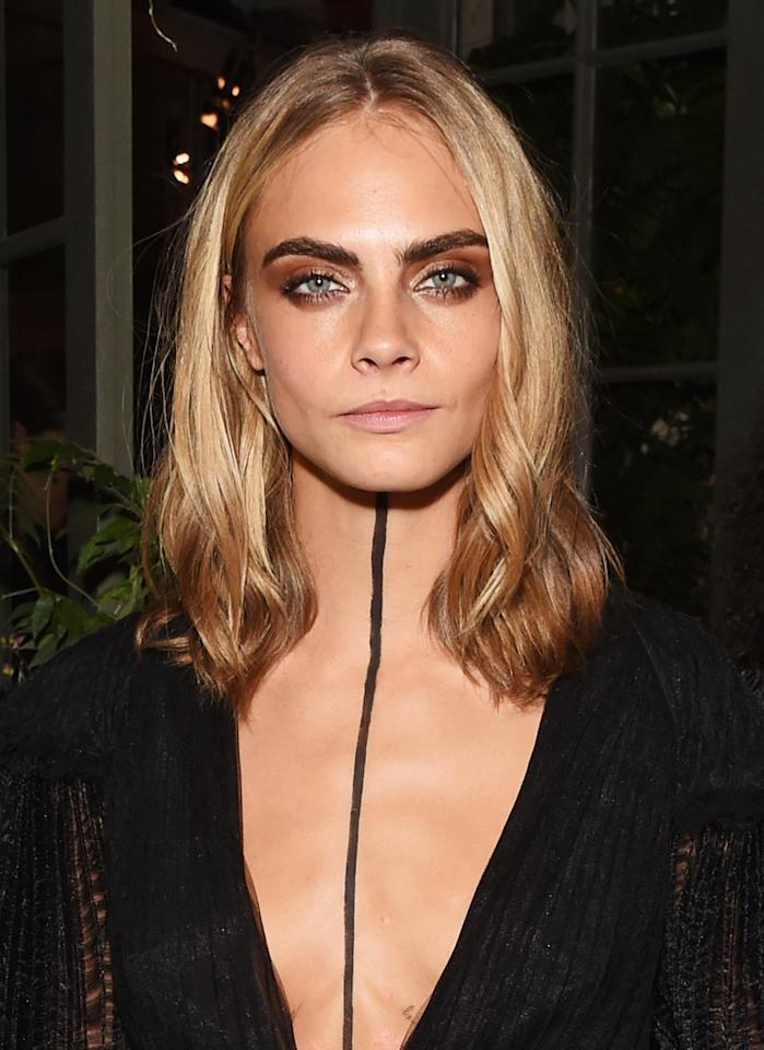 """The model/actress revealedin 2016 that she's battled depression for several years.""""I think I properly started dealing with depression when I was about 16,"""" she told <em><a rel=""""nofollow"""" href=""""http://www.esquire.com/entertainment/news/a47326/changeling-cara-delevigne-opens-up/?src=socialflowTW"""">Esquire</a></em>.""""I was suicidal. I couldn't deal with it anymore. I realized how lucky and privileged I was, but all I wanted to do was die."""""""