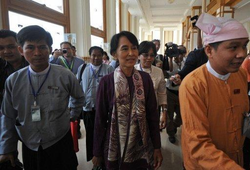 Aung San Suu Kyi and her NLD colleagues are set to take their seats in Myanmar's fledgling parliament