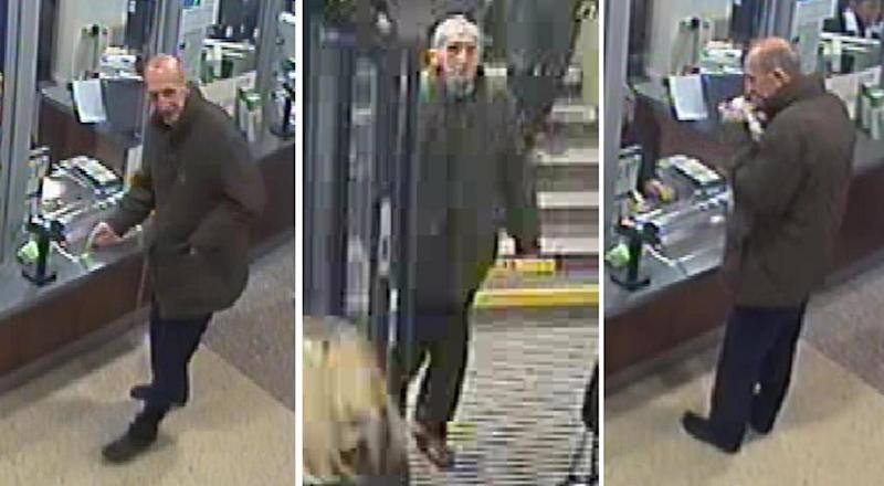 CCTV image: Greater Manchester Police released CCTV footage of David Lytton at Ealing Broadway station (PA)
