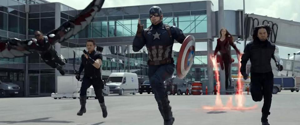 Team Cap charges into battle. (Credit: Marvel Studios)