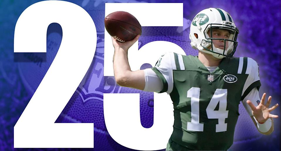 <p>Sam Darnold's two interceptions against the Dolphins didn't help, but that will happen with a rookie quarterback. Overall, he wasn't that bad. But the run game can't disappear when you have a rookie QB. (Sam Darnold) </p>