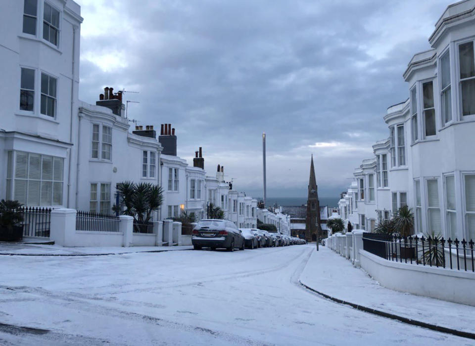 <p>Heavy showers are expected to continue throughout the morning. (PA) </p>