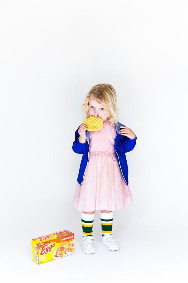 """<p>Caring, loyal, and tough as nails. Is it any wonder we all loved Eleven from just about the first time we saw her in <em>Stranger Things</em>? She doesn't make a bad role model—or costume—for little girls, either. Just don't forget the Eggos!</p><p><strong>Get the tutorial at <a href=""""https://sayyes.com/2016/09/eleven-from-stranger-things-halloween-costume"""" rel=""""nofollow noopener"""" target=""""_blank"""" data-ylk=""""slk:Say Yes"""" class=""""link rapid-noclick-resp"""">Say Yes</a>.</strong></p><p><a class=""""link rapid-noclick-resp"""" href=""""https://www.amazon.com/EGGO-WAFFLES-BUTTERMILK-12-3-PACK/dp/B079JYFJY1?ref_=fsclp_pl_dp_1&tag=syn-yahoo-20&ascsubtag=%5Bartid%7C10050.g.29398849%5Bsrc%7Cyahoo-us"""" rel=""""nofollow noopener"""" target=""""_blank"""" data-ylk=""""slk:SHOP EGGOS"""">SHOP EGGOS</a><br></p>"""