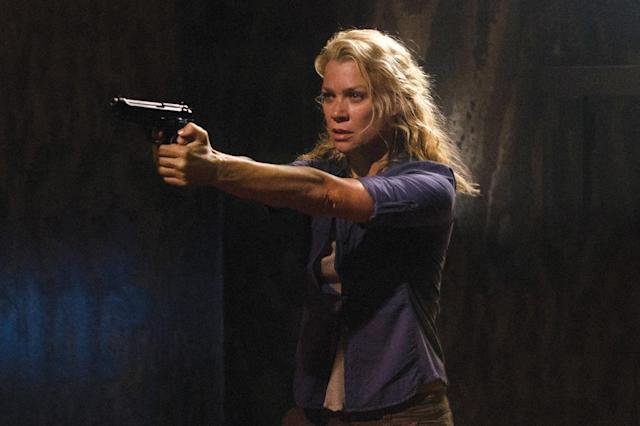 "Andrea (Laurie Holden) in ""The Walking Dead"" episode, ""Made to Suffer."""