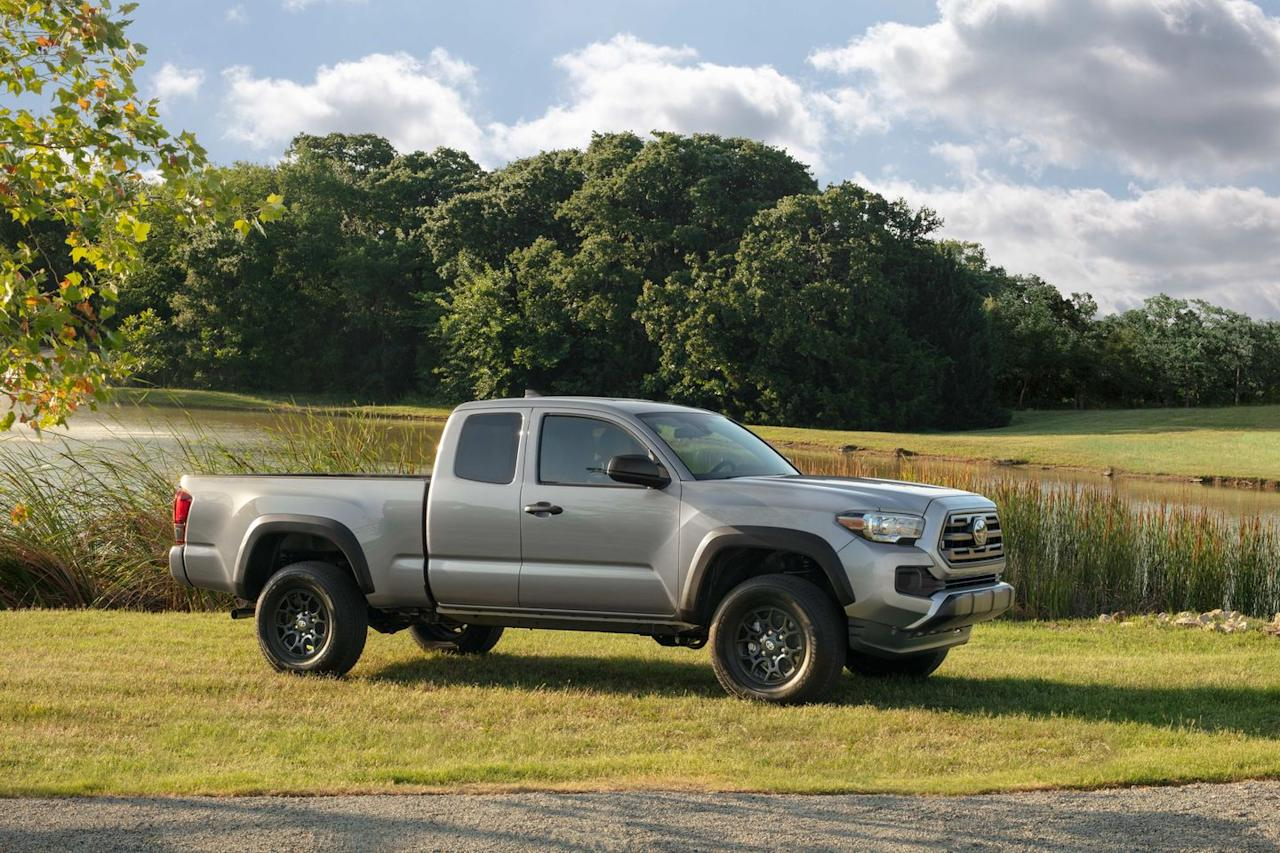<p>The Tacoma is available in either access (extended) cab or four-door double-cab variations across six levels of trim (SR, SR5, TRD Sport and Off-Road, Limited, and TRD Pro), two bed lengths, and the option of two- or four-wheel drive. Toyota counts 30 different models among the Tacoma ranks.</p>