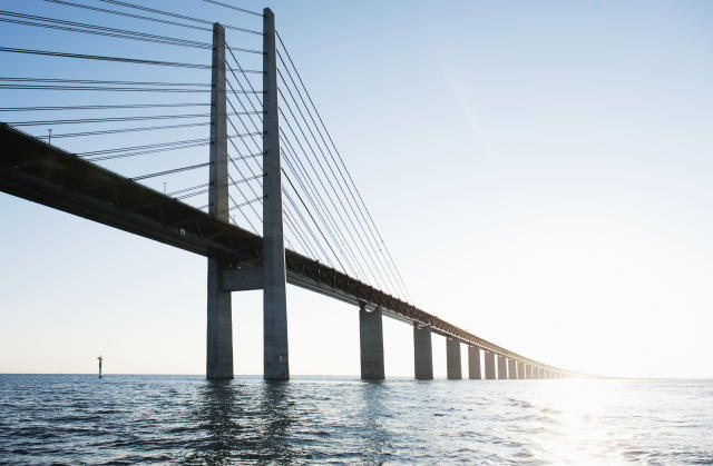 Plans for a bridge to connect Northern Ireland and Scotland could follow similar plans to the Öresund Bridge, which connects Denmark and Sweden. (Getty)