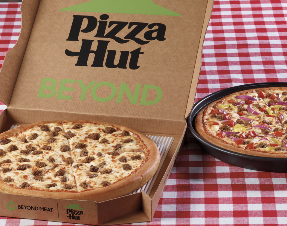 Beyond Meat's sausage is now on a Pizza Hut pizza.