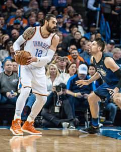 The Thunder will need to rely heavily on Steven Adams in the middle if they are going to get back into their series with Portland.