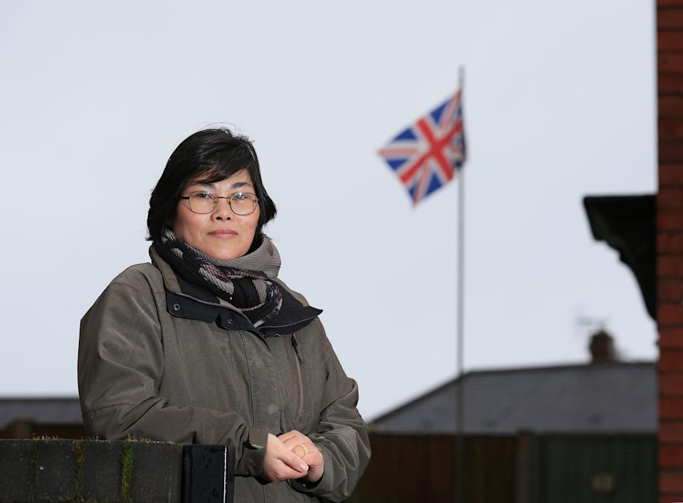 North Korean-born Jihyun Park, who fled to the UK 13 years ago and is now standing as a Conservative Party candidate for up-coming local council elections, poses for a photograph in Bury, northwest England, February 6, 2021. - Jihyun Park shares the civic concerns of any other would-be town councillor in Britain, from local education to potholes in the roads. But she is unique in one regard: no other candidate has fled North Korea. Park is believed to be the first defector from the oppressive state to have run for office in any country, other than South Korea, after fleeing human trafficking in China and the brutal privations of a North Korean prison camp. (Photo by Lindsey Parnaby / AFP) (Photo by LINDSEY PARNABY/AFP via Getty Images)