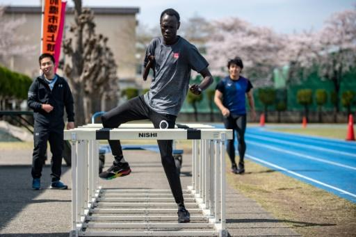 """South Sudan Paralympic sprinter Michael Machiek Ting Kutjang trains at the team's Maebashi base, north of Tokyo. """"We are eager to give them our continued support,"""" says Shinichi Hagiwara, a sports official at the Maebashi city government"""