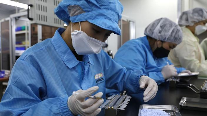 Producing test kits in South Korea