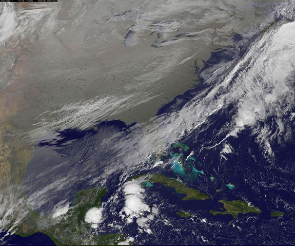 Satellite Photo Shows Frigid Arctic Air Over Eastern US