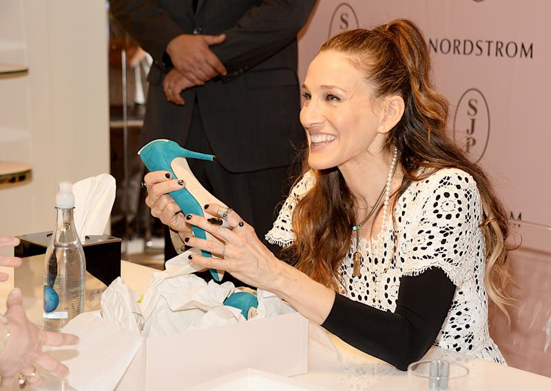 Sarah Jessica Parker presents The SJP Collection in Salon Shoes at Nordstrom in The Grove on March 6, 2014 in Los Angeles, California. (Photo: Getty Images)