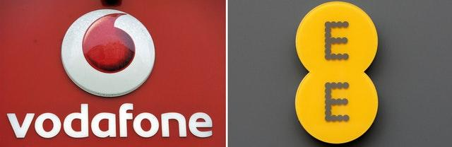 Vodafone and EE logo