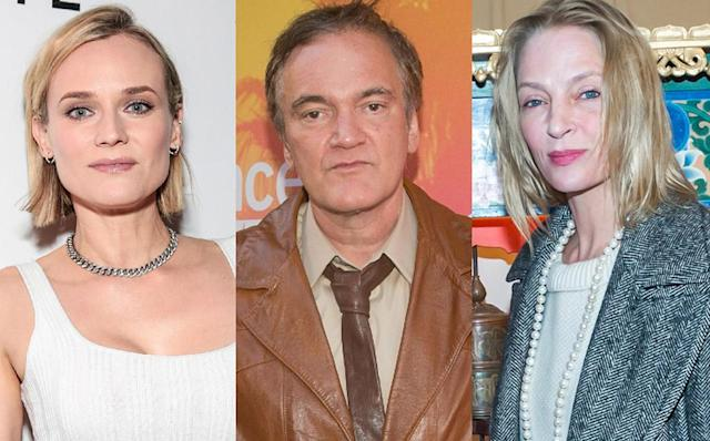 Diane Kruger has found herself pulled into the public dispute between Quentin Tarantino and Uma Thurman. As a result, she's shown her support for her  <em>Inglourious Basterds </em>director <em>—</em> as well as the actress. (Photo: Getty Images)
