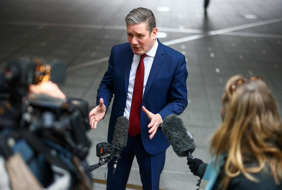 British Labour Party leader Keir Starmer speaks to members of the media, in London, Britain January 10, 2021. REUTERS/Simon Dawson