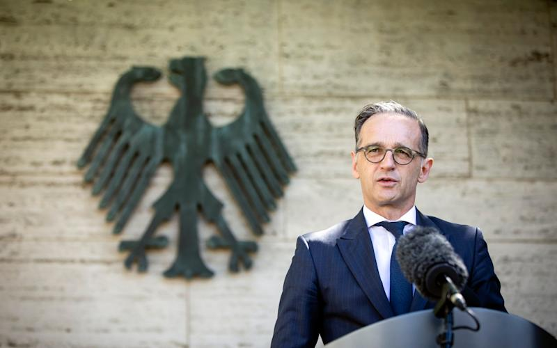 BERLIN, GERMANY - JUNE 03: German Foreign Minister Heiko Maas speaks to the press about travel restrictions in Europe in front of the Federal Foreign Office on June 03, 2020 in Berlin, Germany. (Photo by Thomas Koehler/Photothek via Getty Images) - Thomas Koehler/Photothek