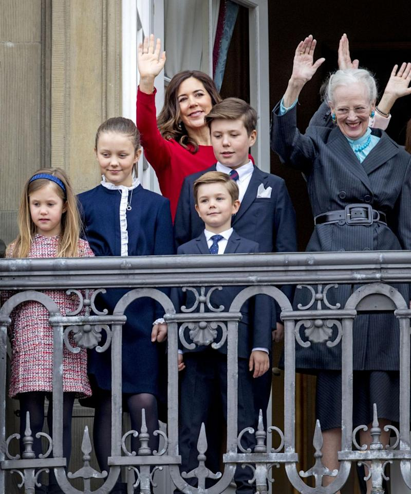They were celebrating Queen Margrethe's 78th birthday. Photo: Getty Images